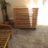 cache clim bois et banc bambou