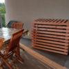 cache clim modifiable en bois