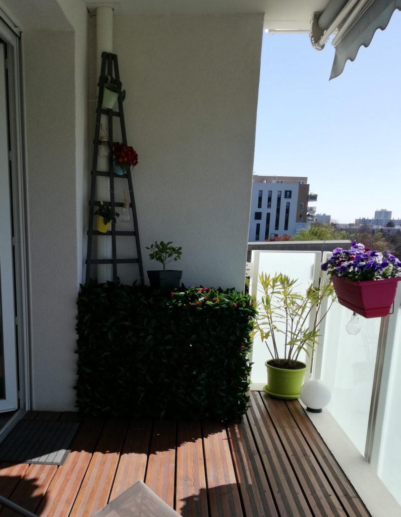 protège cache clim feuillage pour un cotés végétal