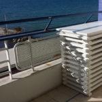 cache clim sur balcon résistant iode marine